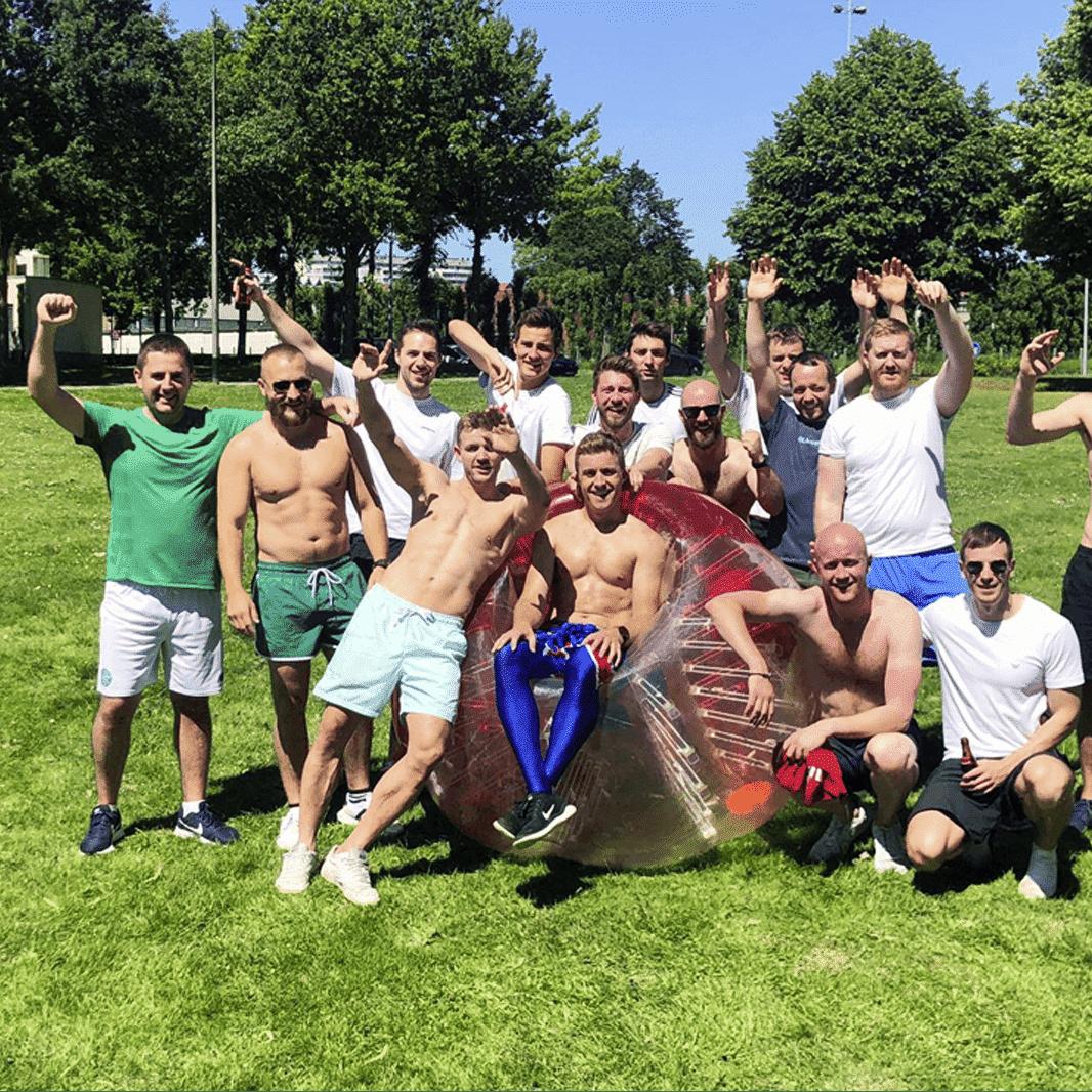 Vrijgezellen bubble voetbal